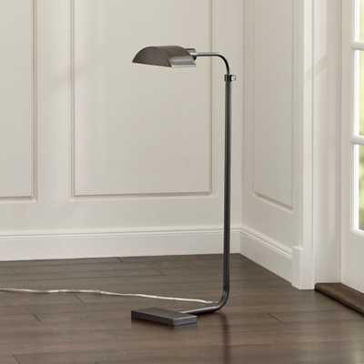 Theorem Patina Bronze Floor Lamp - Crate and Barrel