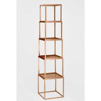 Tripar International Rose Gold Stackable Etagere Open Bookcase - Home Depot
