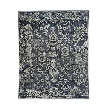 Medallion Rug, Midnight, 8'x10' - West Elm