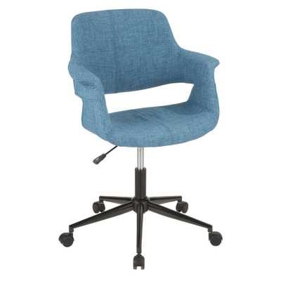 Vintage Flair Blue Office Chair - Home Depot