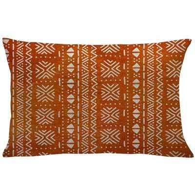 Coralie Mud Cloth Linen Lumbar Pillow - Wayfair