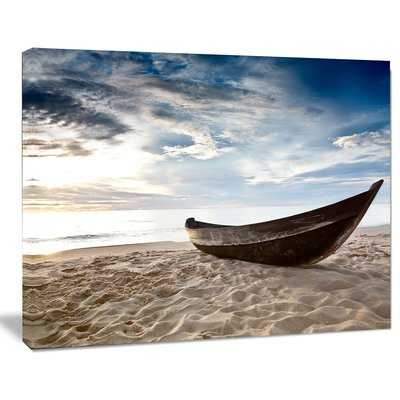 'Old Fisherman Boat' Photographic Print on Wrapped Canvas - Wayfair