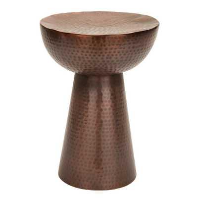 Hammered Copper End Table, Copper Hammered - Home Depot