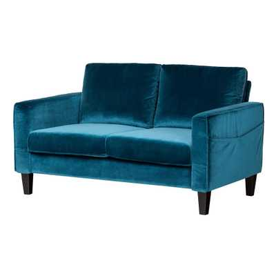 Live-it Cozy 2-Seat, Velvet Blue Sofa - Home Depot