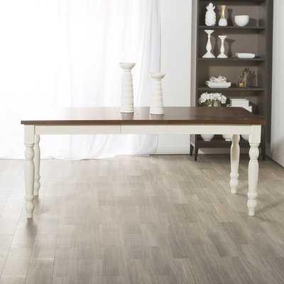 Hodslavice Solid Wood Turned Leg Extendable Dining Table - Wayfair