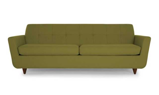 Green Hughes Mid Century Modern Sleeper Sofa - Royale Apple  - Mocha - Joybird