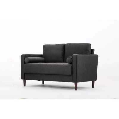 Lillith Loveseat in Heather Grey - Home Depot