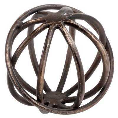 Russ Bronze Sphere Figurine - AllModern