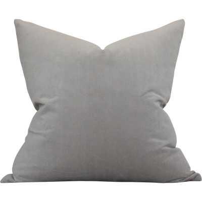 Medium Grey Performance Velvet - 22x22 pillow cover - Arianna Belle