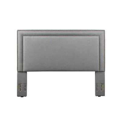 Baffin, Full and Queen Size, Grey Linen Headboard - eBay