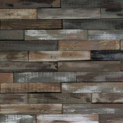 Deco Planks Weathered Gray 1/2 in. Thick x 2 in. Wide x 12 in. Length Solid Hardwood Wall Planks (10 sq. ft. / case) - Home Depot