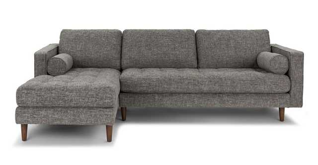 Sven Briar Gray Left Sectional Sofa - Article