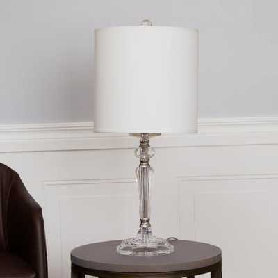 Silverwood Delaney Pillar 23 in. Crystal Table Lamp with Shade - Home Depot