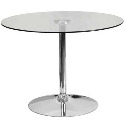 Cavell Round Glass Dining Table - Wayfair