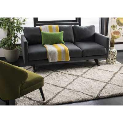 Duhon Ivory/Gray Shag Area Rug - Wayfair