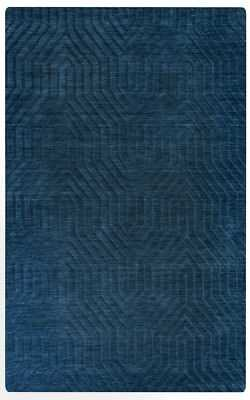 Rizzy Rugs Blue Solid Arches Peaks Curves Contemporary Area Rug Geometric TC8576: 8' x 10' - eBay