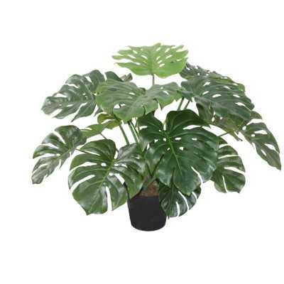 Faux Floor Monstera Plant in Pot - Wayfair