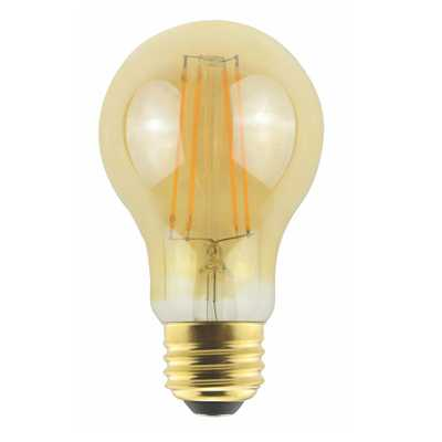 ProLED Filament LED 60-Watt Equivalent Warm White Amber A19 Dimmable LED Antique Vintage Style E26 Light Bulb - Home Depot