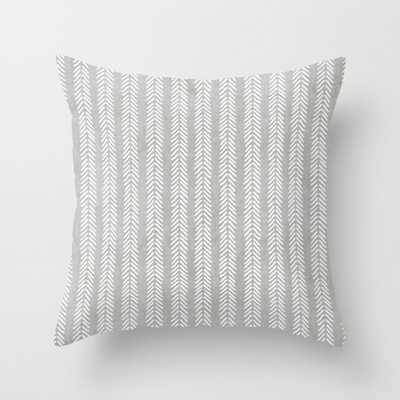 "Mud cloth - Grey Arrowheads Throw Pillow - Indoor Cover (24"" x 24"") with pillow insert by Beckybailey1 - Society6"