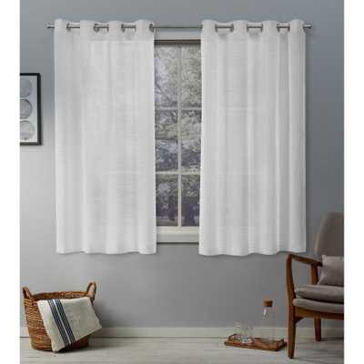 Exclusive Home Curtains Belgian White Sheer Grommet Top Curtain - 50 in. W x 63 in. L - Home Depot