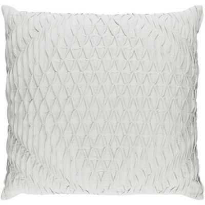 Arbutus Poly Euro Pillow, Light Gray - Home Depot