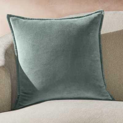 "Brenner Lead Velvet Pillow with Down-Alternative Insert 20"" - Crate and Barrel"