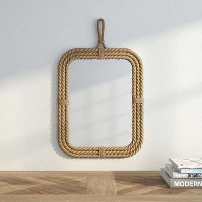 24 in. H x 15 in. W Rectangular Rope Wrapped Mirror - Home Depot