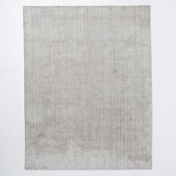 Handloomed Strie Shine Rug, 8'x10', Gray - West Elm