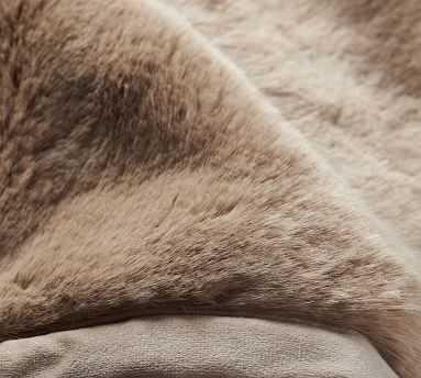 "Faux Fur Throws, 50x60"", Taupe Alpaca - Pottery Barn"