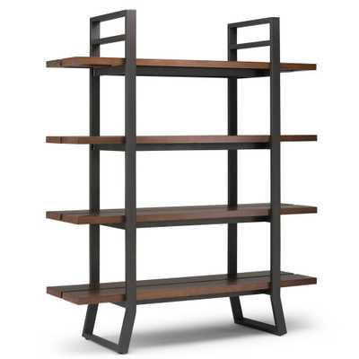 Adler Light Walnut Brown Bookcase - Home Depot