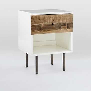 Reclaimed Wood + Lacquer Storage Nightstand, Reclaimed Pine, Gray Wash, Individual - West Elm