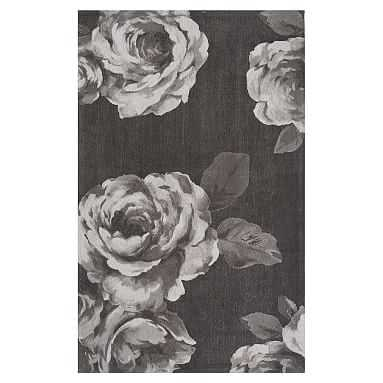 The Emily & Meritt Rose Rug, 3x5, Black/White - Pottery Barn Teen