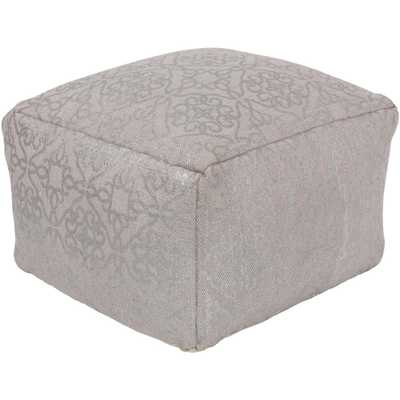 Raev Taupe (Brown) Accent Pouf - Home Depot