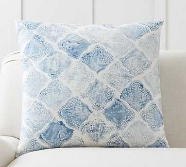 Arbor Shell Print Pillow, 24 Inches, Blue Multi - Pottery Barn