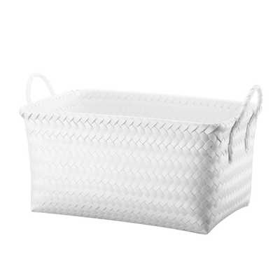 Cube Storage Rectangle Bin White Small - Room Essentials - Target