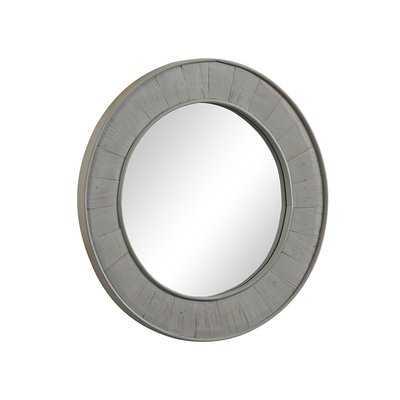 Clemmie Round Gray Wall Mirror - Wayfair