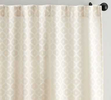 "Cala Jacquard Sheer Drape, 50 x 96"", Neutral - Pottery Barn"