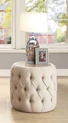 Everly Quinn Regan Round Upholstered End Table - eBay