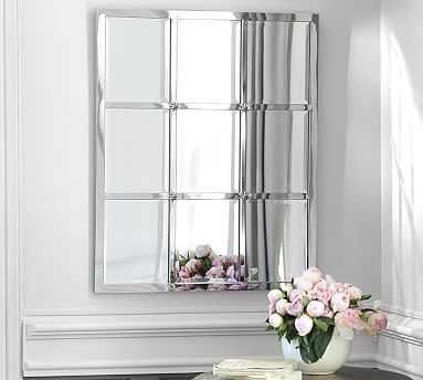 """Eagan Multipanel Small Mirror, 28 x 33"""", Silver Finish - Pottery Barn"""