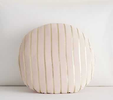 Metallic Stripe Pillow, Blush/gold - Pottery Barn Kids