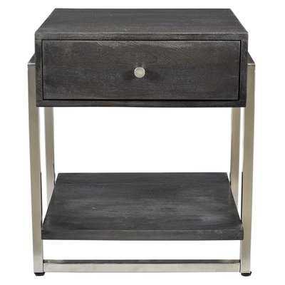 Lowe Solid Mango Wood and Metal End Table - Wayfair