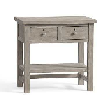 Farmhouse 2-Drawer Nightstand, Gray - Pottery Barn