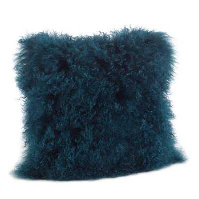 Becky Mongolian Fur Throw Pillow - AllModern