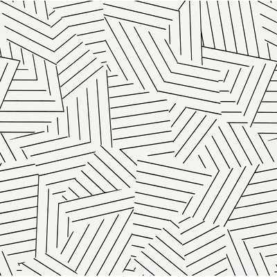 "Deconstructed Stripe 13.5' L x 27"" W Geometric Wallpaper Roll (Set of 2) - AllModern"