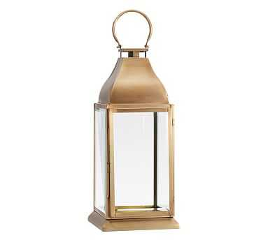 Chester Brushed Lantern, Brass - Small - Pottery Barn