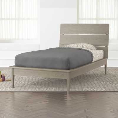Wrightwood Grey Stain Twin Bed - Crate and Barrel