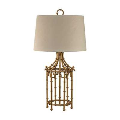 Titan Lighting 33 in. Gold Leaf Bamboo Birdcage Table Lamp - Home Depot