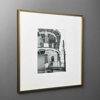 Gallery Brass Frame with White Mat 11x14 - CB2