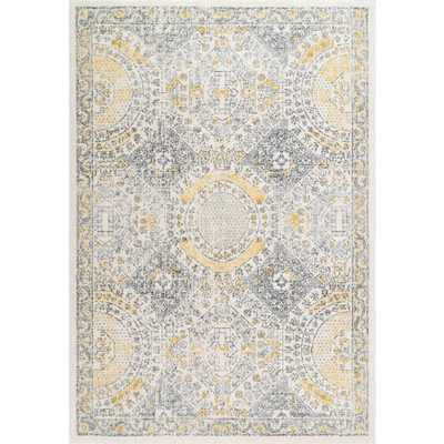 nuLOOM Vintage Minta Gold 6 ft. 7 in. x 9 ft. Area Rug - Home Depot