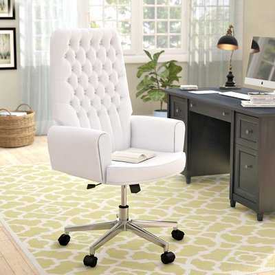 Abbate Traditional Tufted High-Back Leather Executive Chair - Wayfair